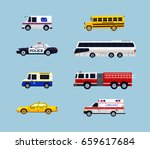 vehicle transportation   modern ... | Shutterstock .eps vector #659617684