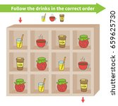 maze game. follow the drinks ... | Shutterstock .eps vector #659625730