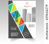 vector   flyer or cover design...   Shutterstock .eps vector #659626279