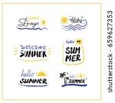 summer labels  logos  hand... | Shutterstock .eps vector #659627353
