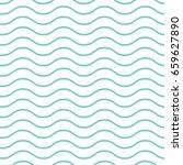 blue wavy pattern | Shutterstock .eps vector #659627890