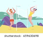 beach volley scene.isolated... | Shutterstock .eps vector #659630698