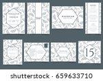 set of wedding invitation card. ... | Shutterstock .eps vector #659633710