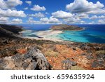balos lagoon   crete  greece | Shutterstock . vector #659635924