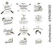 summer vector labels | Shutterstock .eps vector #659638030