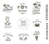 summer vector labels | Shutterstock .eps vector #659638036