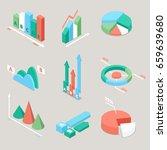 chart and graphs statistics...   Shutterstock .eps vector #659639680