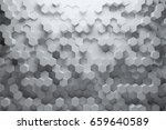 abstract white geometric...   Shutterstock . vector #659640589