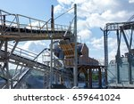 equipment crushed stone plant  | Shutterstock . vector #659641024