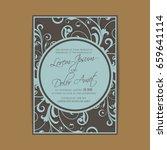 wedding design template with... | Shutterstock .eps vector #659641114