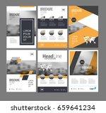 six flyer marketing templates... | Shutterstock .eps vector #659641234