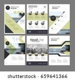six multipurpose brochure...   Shutterstock .eps vector #659641366