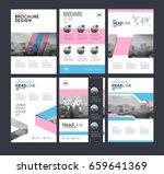 six flyer marketing templates...   Shutterstock .eps vector #659641369