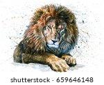 lion  | Shutterstock . vector #659646148