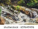 beautiful camly waterfall in da ... | Shutterstock . vector #659649496