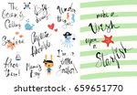 make a wish upon a starfish.... | Shutterstock .eps vector #659651770