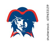 pirate head mascot. logotype of ... | Shutterstock .eps vector #659653159