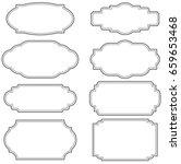 set of vintage label frames | Shutterstock .eps vector #659653468