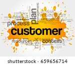 customer word cloud  business... | Shutterstock . vector #659656714