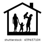 family with children in the... | Shutterstock .eps vector #659657104