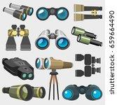 different design binocular... | Shutterstock .eps vector #659664490