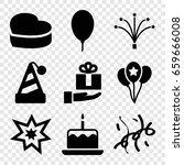 anniversary icons set. set of 9 ... | Shutterstock .eps vector #659666008