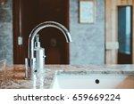 modern hand wash sink in the...   Shutterstock . vector #659669224