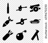 conflict icons set. set of 9... | Shutterstock .eps vector #659670250