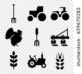 agricultural icons set. set of... | Shutterstock .eps vector #659670283