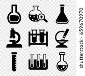 lab icons set. set of 9 lab... | Shutterstock .eps vector #659670970