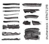 vector black grunge watercolor  ... | Shutterstock .eps vector #659671198