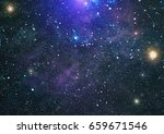 starry outer space background... | Shutterstock . vector #659671546