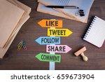 social media concept  like ... | Shutterstock . vector #659673904