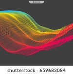 array with dynamic emitted... | Shutterstock .eps vector #659683084