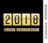 happy new year 2018. vector... | Shutterstock .eps vector #659685439