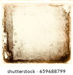 grunge abstract frame with worn ...   Shutterstock . vector #659688799