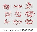 hand drawn romantic quote set.... | Shutterstock .eps vector #659689369