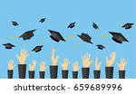 graduating students of pupil... | Shutterstock . vector #659689996