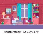 some kid bedroom. illustration...   Shutterstock .eps vector #659693179