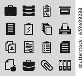 document icons set. set of 16... | Shutterstock .eps vector #659698288