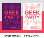 geek party poster with... | Shutterstock .eps vector #659699944