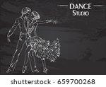 monochrome vector illustration... | Shutterstock .eps vector #659700268