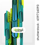 straight blue and green lines...   Shutterstock . vector #659716093