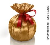 Sweet in a gold wrapper - stock photo