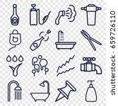 drop icons set. set of 16 drop... | Shutterstock .eps vector #659726110