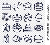 cake icons set. set of 16 cake... | Shutterstock .eps vector #659726200