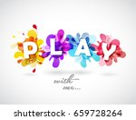 play with me quotation with... | Shutterstock .eps vector #659728264