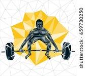 geometric crossfit concept....   Shutterstock .eps vector #659730250