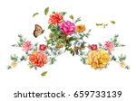 watercolor painting of leaves... | Shutterstock . vector #659733139