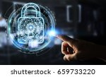businessman on blurred... | Shutterstock . vector #659733220